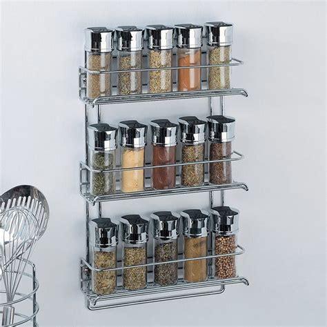 Metal Spice Rack Wall Mount organize it all 11 in w x 18 13 in 3 tier door wall mount