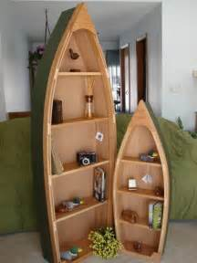 6 foot handcrafted wood row boat bookshelf bookcase by poppasboats