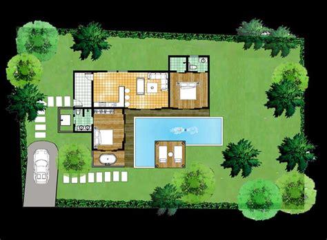 plan de maison moderne avec piscine plan de maison avec piscine