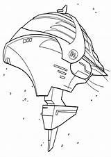 Spaceship Coloring Coloringway sketch template