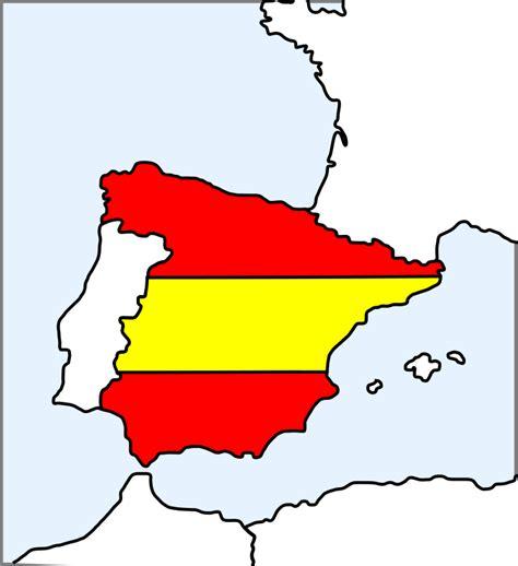 spain map  flag  vector vector