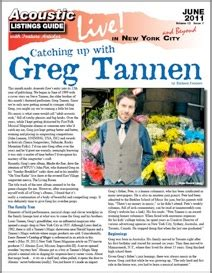 Catching up with Greg Tannen by Richard Cuccaro This month ...