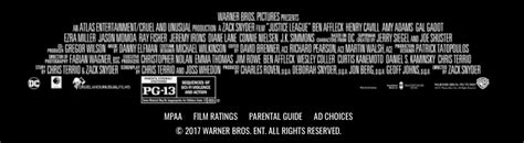 film credits justice league rating and credits superman homepage