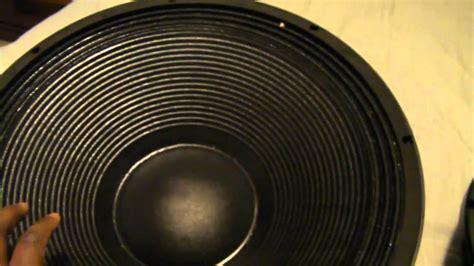 Dj Speakers Cerwin Vega El-36c Upgraded To B&c 18tbx100