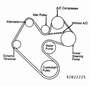 1992 Dodge Dakota Serpentine Belt Routing And Timing Belt Diagrams