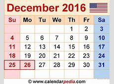 December 2016 Calendar Printable Free – 2017 printable