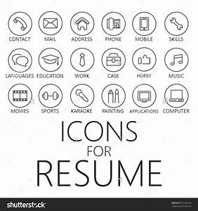 Thin line icons pack for cv resume job cvicon for Free resume icons