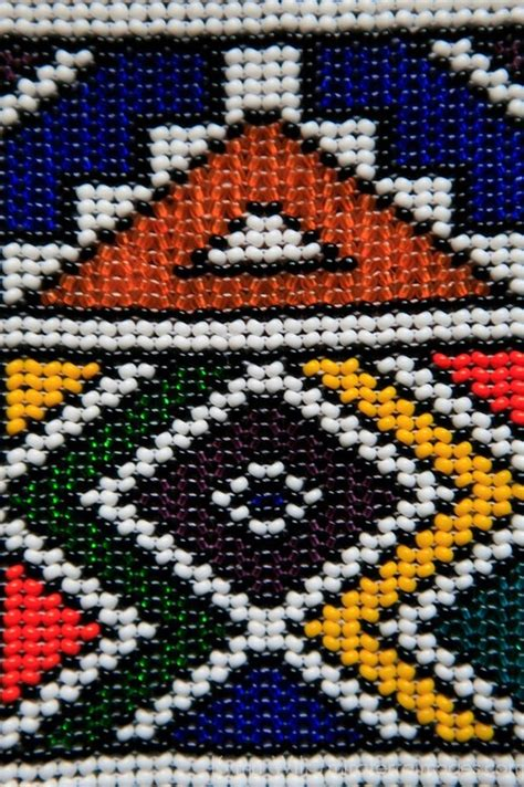 South African beaded pattern work
