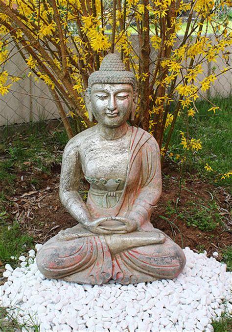 Amitabha Buddha Statue Granit Naturstein Stein, Tibet