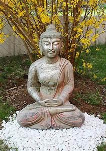 Buddha Statue Im Garten : amitabha buddha statue granit naturstein stein tibet china asien figur garten ebay ~ Bigdaddyawards.com Haus und Dekorationen