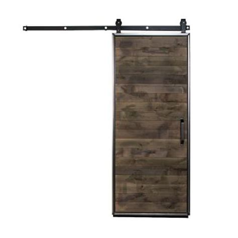 home depot barn door hardware rustica hardware 42 in x 84 in mountain modern wood barn