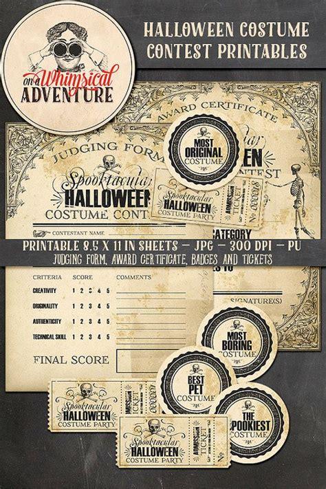 halloween costume contest award certificate judging form