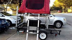 Kayak Trailer With A Yakima Roof Top Tent