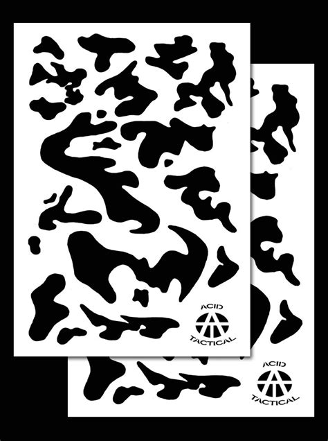 army duracoat camo stencils  pack acid tactical