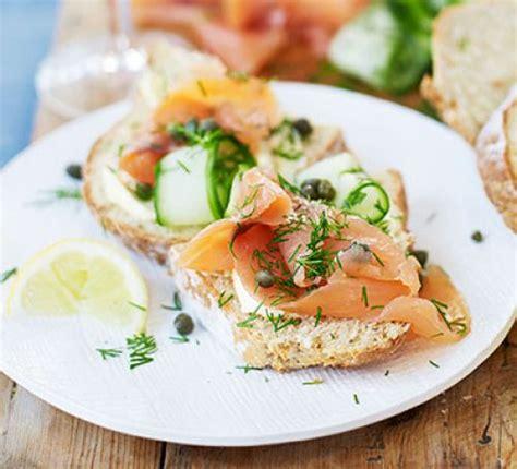 smoked salmon cucumber capers soda bread recipe bbc