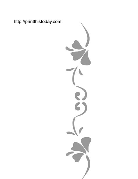 free printable flower stencils for walls wall stencils
