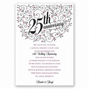 personalized anniversary invitations personalized 25th With 25th wedding anniversary invitations