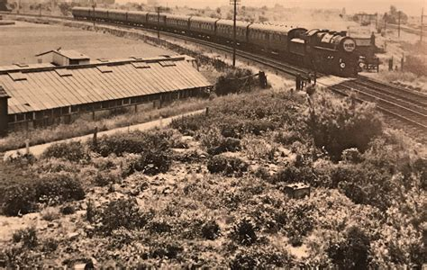 Train approaching Spalding