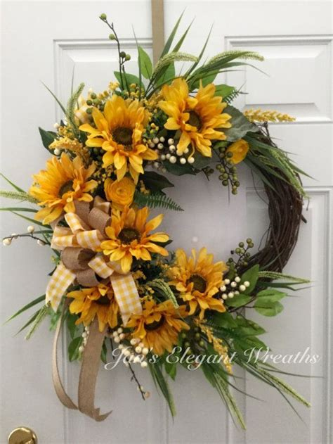 Mothers Day T Sunflower Wreath Spring Wreath Summer