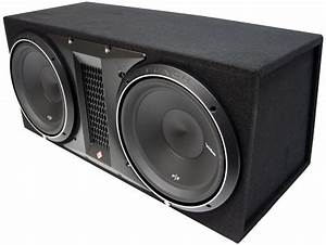 Rockford Fosgate P2-2x12 Dual P2 12 U0026quot  Loaded Enclosure