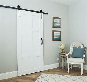 our classic 6 panel sliding barn door is timeless built With 6 panel barn door