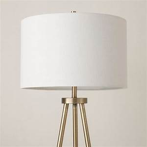 tripod floor lamp antique brass threshold target With threshold floor lamp metal shade rotary switch