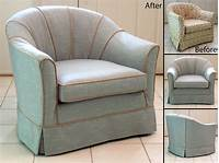 chair slip cover Simple Barrel Chair Slipcovers | HomesFeed