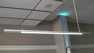 Slim Led Hanging Pendant Lights For Office Or Garage