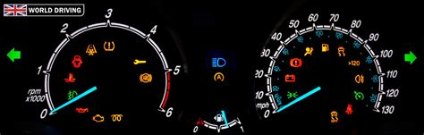 dashboard warning lights  indicators world driving