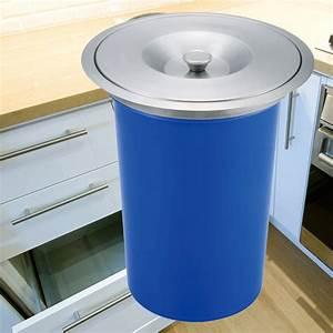 8L ABS Countertop Bench top Kitchen Waste Trash Bin Bins