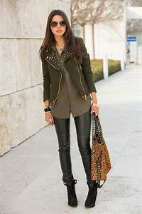 Womenu0026#39;s Brown Sunglasses Dark Brown Suede Ankle Boots Black Leather Leggings Brown Leopard ...