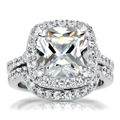 2019 latest square cut diamond wedding bands