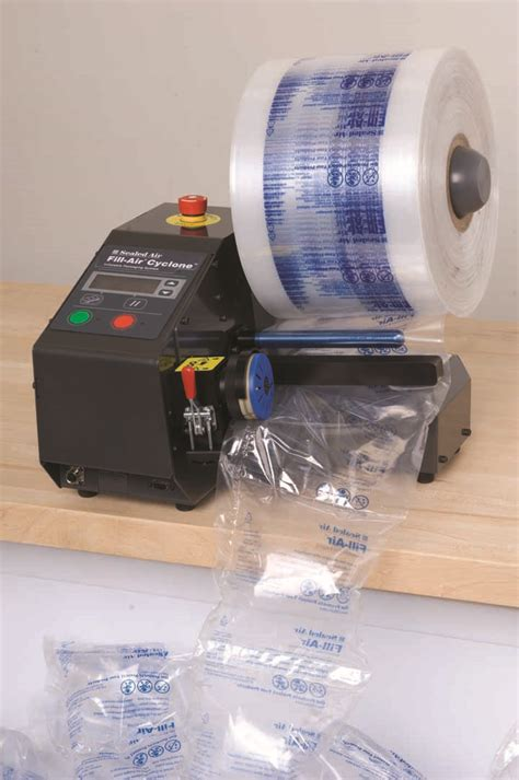 inflatable air bag packaging system void fillers