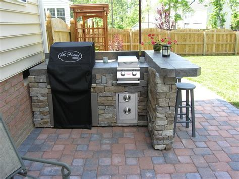 Planning & Ideas : Small Outdoor Kitchen Plans Covered