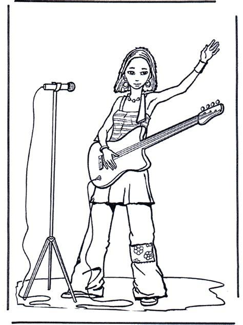 maedchen mit gitarre malvorlage musik