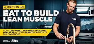 Nutrition 101  Eat To Build Lean Muscle