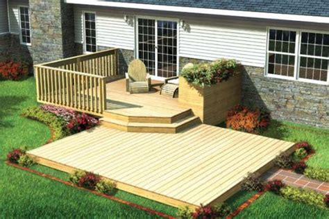small deck designs  pinterest wood deck designs small decks   deck designs