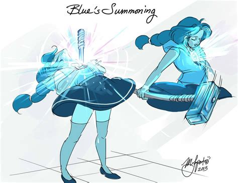 steven universe blue s summoning by rice on deviantart steven universe steven universe