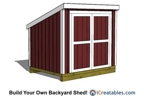 6x8 Storage Shed Plans Free by 6x8 Lean To Shed Plans With Walls 6x8 Shed Plans