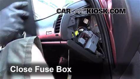 interior fuse box location   chevrolet monte