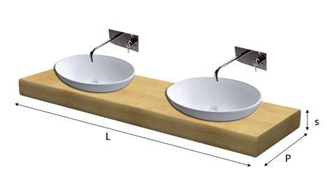 mensola per lavabo top lavabo legno massello su misura