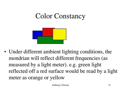 color constancy ppt the study of perception powerpoint presentation id