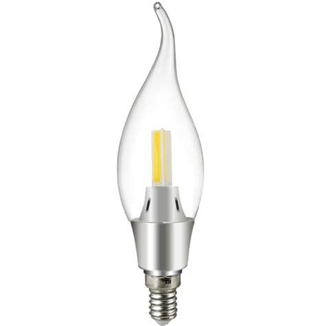 mengsled mengs 174 e14 3w led candle light 3 cob leds bent