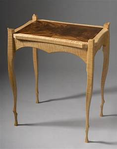 Hand, Crafted, Contemporary, Art, Nouveau, Side, Table, By, Terry, Bostwick, Studio, Furniture