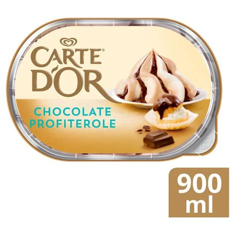 carte d or gelateria chocolate profiterole dessert 900ml from ocado