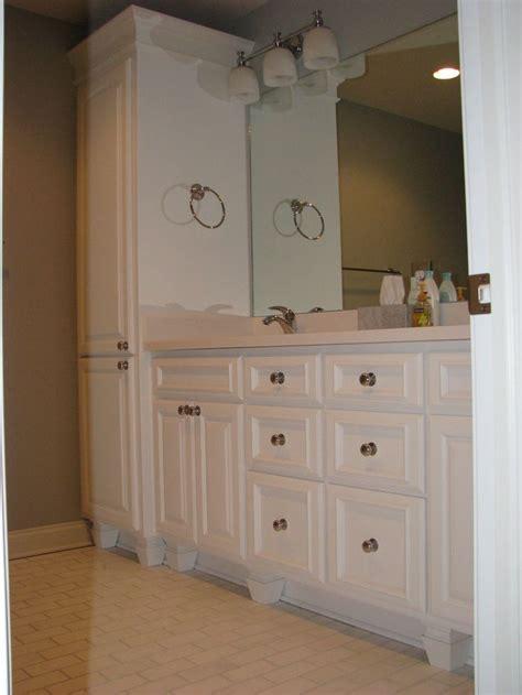 bathroomvanitywithlinencabinet bath laundry
