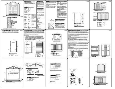 10 X 16 Wood Shed Plans by Shed Plans 10 X 16 Construct Your Personal Shed With