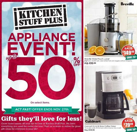 kitchen stuff plus kitchen stuff plus canada flyers