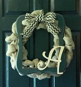 wooden letters with burlap bow framed burlap wreath with With burlap wooden letters