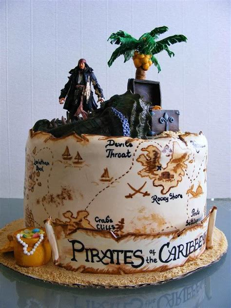 pirates   caribbean cake amazing pirate pinterest